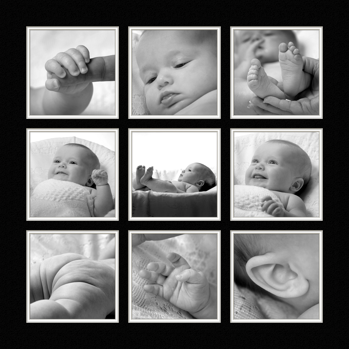 Babies Cutie Kissables Portrait Collage