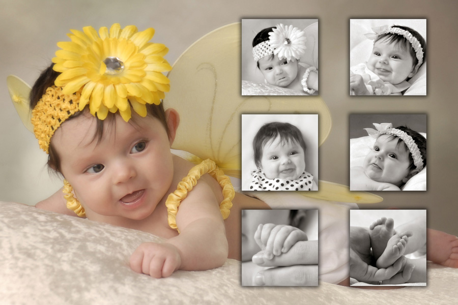 Baby portrait Cutie Kissables by Cleary Creative Photography in Dayton Ohio