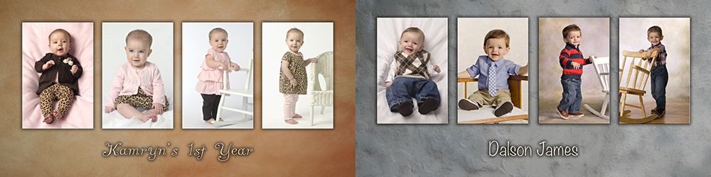 Girl and boy baby panels by Cleary Creative Photography in Dayton Ohio