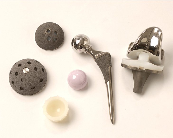 studio photograph of hip replacement parts by Cleary Creative Photography in Dayton Ohio
