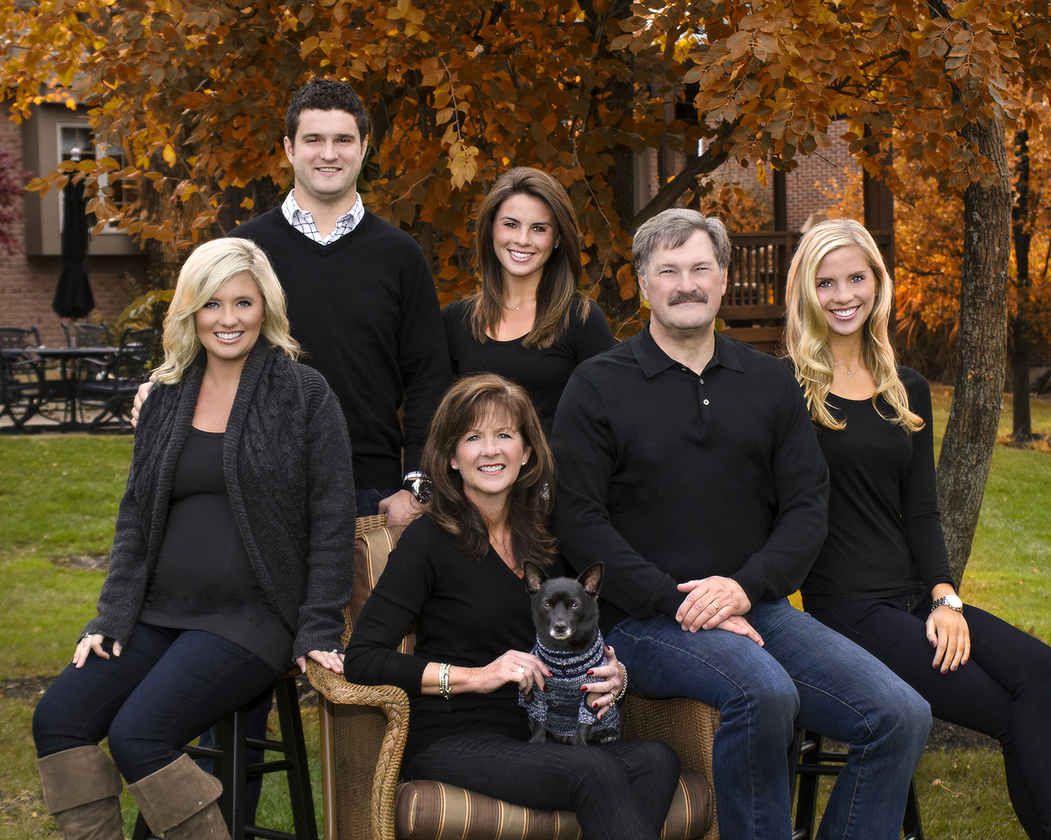 fall family home portrait in Centervill Ohio by Dan Cleary of Cleary Creative Photography