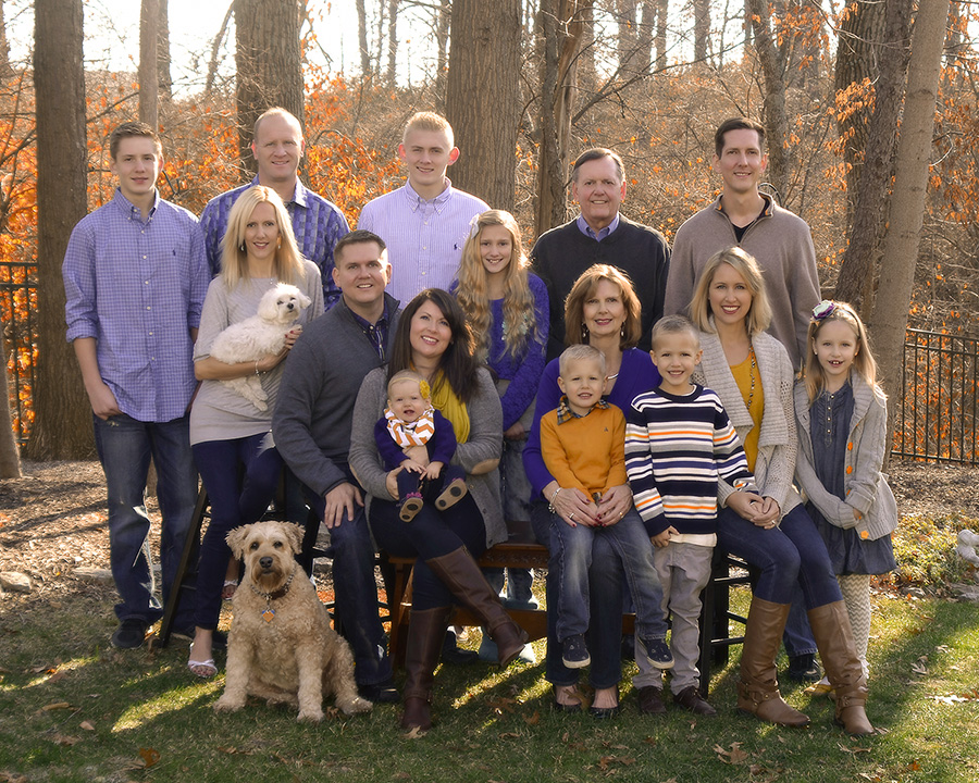 fall family home portrait in Springboro Ohio by Dan Cleary of Cleary Creative Photography