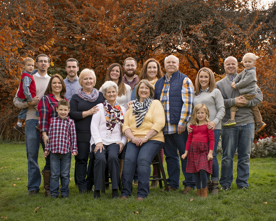 family portrait in the fall at Smith Garden Oakwood Ohio by Dan Cleary of Cleary Creative Photography