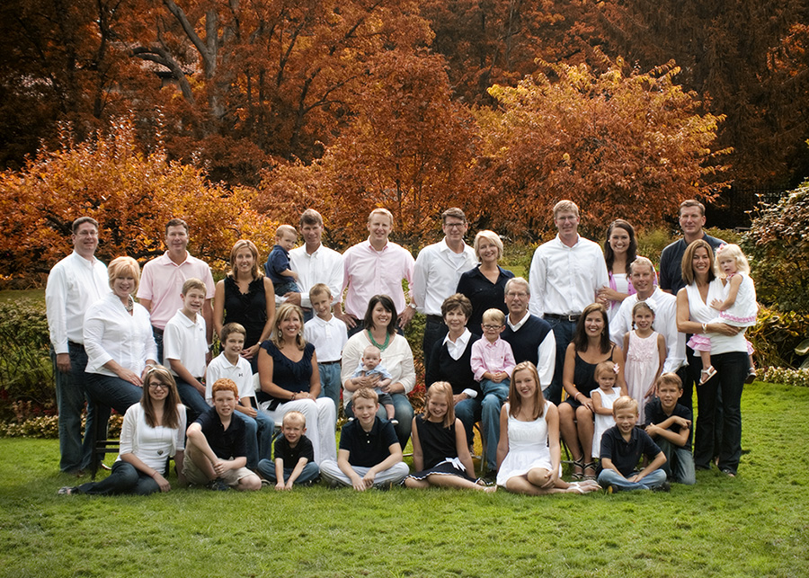 large family portrait at Smith Garden Oakwood Ohio by Dan Cleary of Cleary Creative Photography