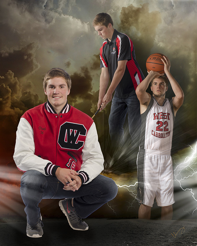 high school senior boy sports collage by Cleary Creative Photography in Dayton Ohio