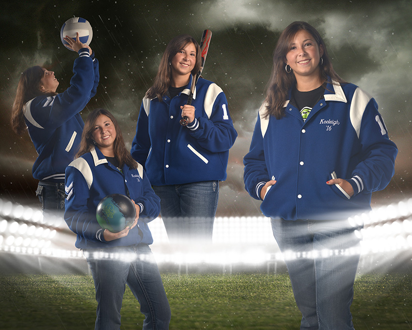high school senior girl sports collage by Cleary Creative Photography in Dayton Ohio