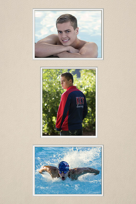 high school senior photography of swimmer by Dan Cleary of Cleary Creative Photography in Dayton Ohio