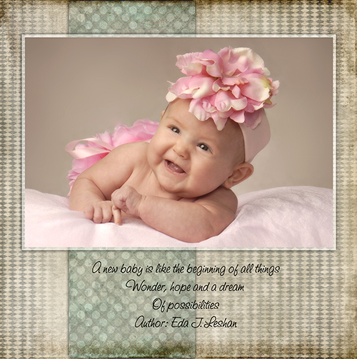 Baby photo album by Cleary Creative Photography in Dayton Ohio