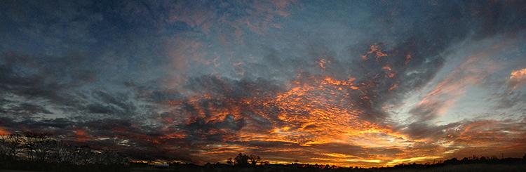 Sunset outside Springboro, Ohio