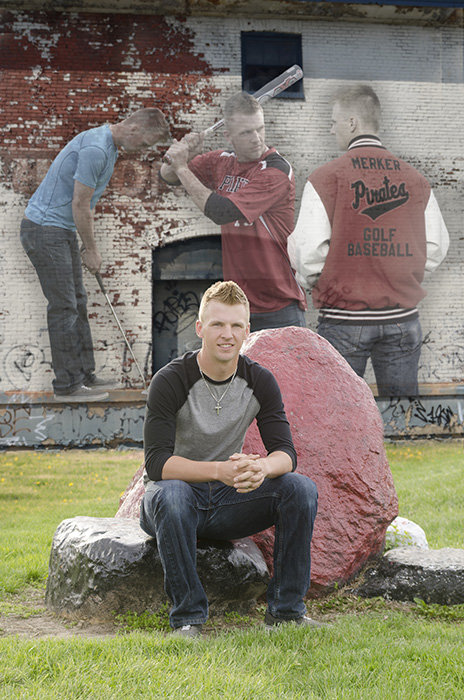High school senior boy portrait collage by Dan Cleary of Cleary Creative Photography in Dayton Ohio