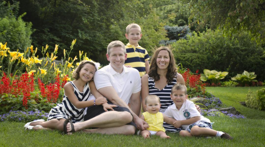 family portrait at Smith Garden in Oakwood Ohio