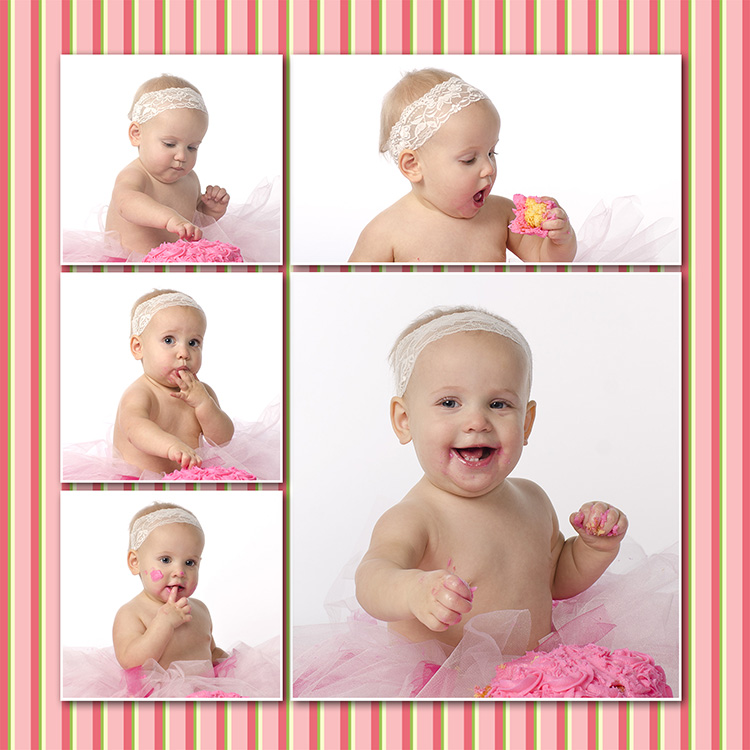 one year old baby eating cake by Dan Cleary of Cleary Creative Photogaphy Dayton Ohio