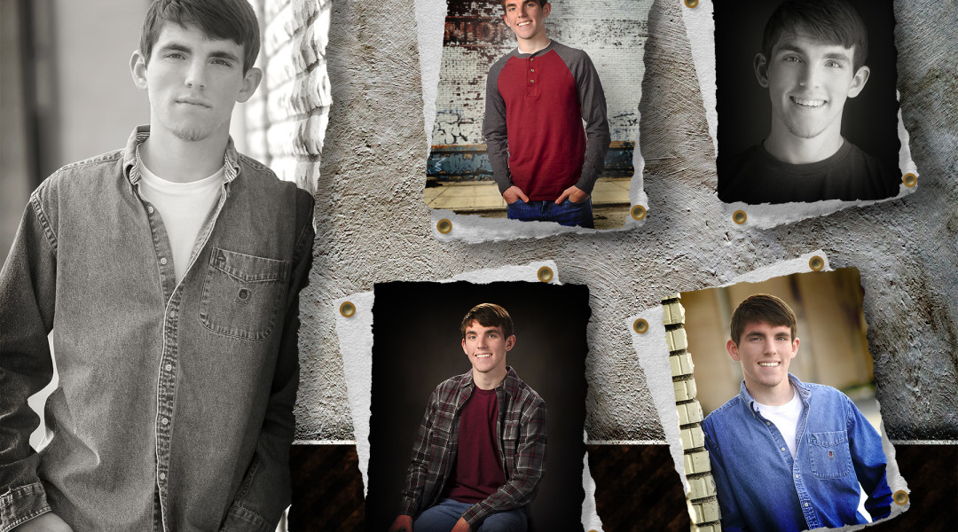 High School Senior portrait of boy by Dan Cleary of Cleary Creative Photography in Dayton Ohio