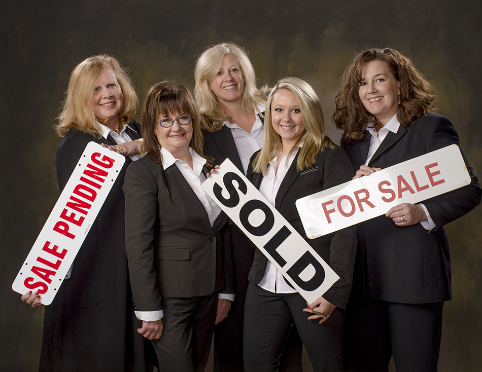 professional realtor headshot portrait of four business women by Cleary Creative Photography in Dayton Ohio