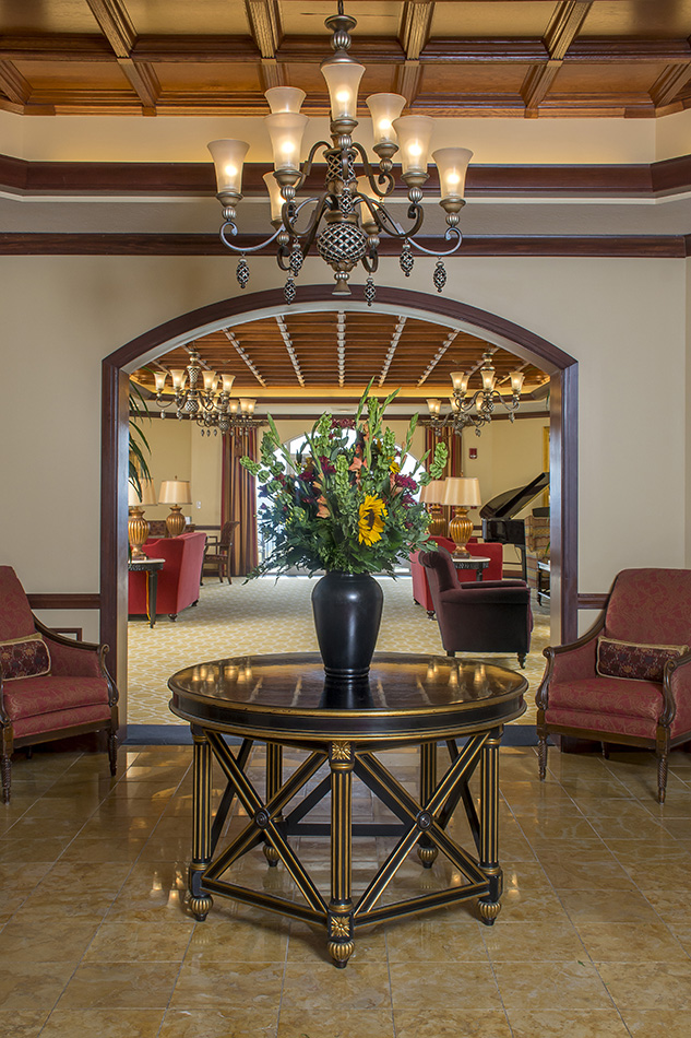 Interor photograph at Kenwood retirement front lobby by Dan Cleary of Cleary Creative Photography in Dayton Ohio