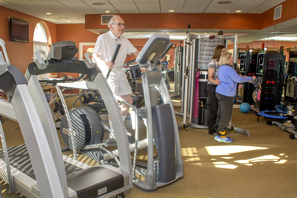 Interor photograph at Kenwood retirement workout room by Dan Cleary of Cleary Creative Photography in Dayton Ohio