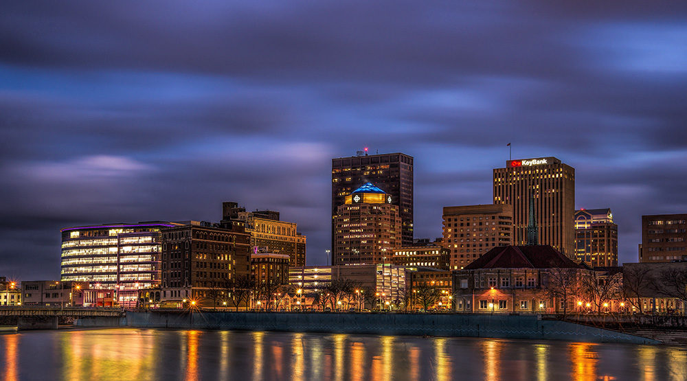 Photography of Downtown Dayton Ohio at Night by Dan Cleary of Cleary Creative Photography