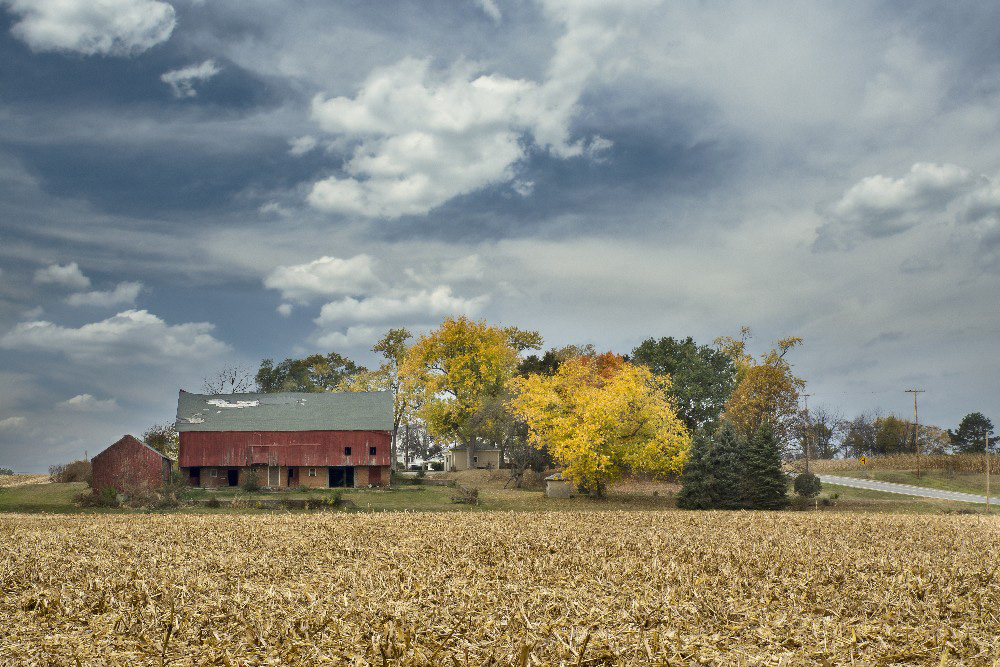 Historic Farm in fall Miami County Ohio by Dan Cleary of Cleary Creative Photography in Dayton Ohio