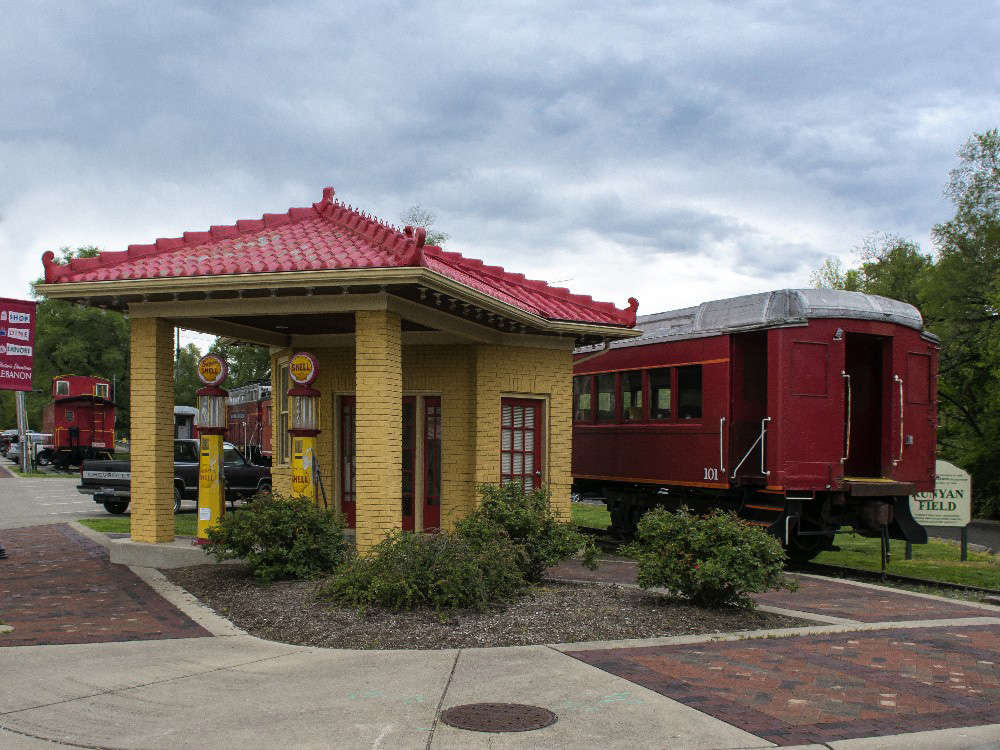 Lebanon train station park by Dan Cleary of Cleary Creative Photography in Dayton Ohio