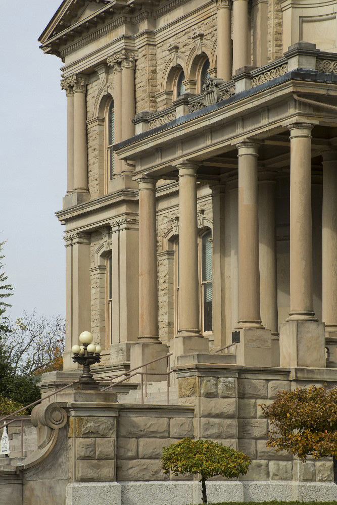 Miami County Ohio front of county Courthouse by Dan Cleary of Cleary Creative Photography in Dayton Ohio