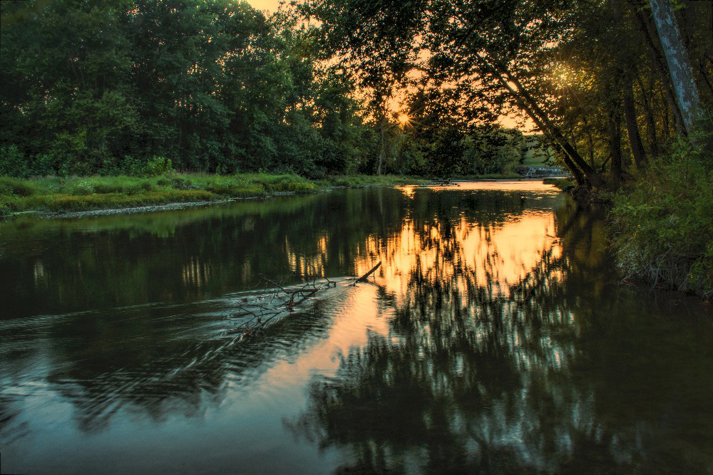 Miami River at sunset Englewood Metro Park Ohio by Dan Cleary of Cleary Creative Photography in Dayton Ohio