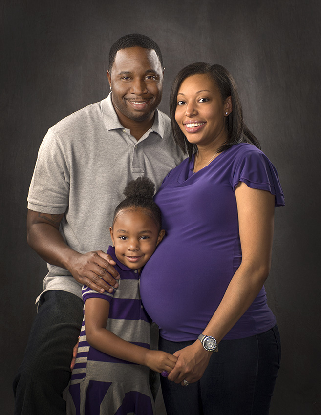 maternity portrait of African American family by Dan Cleary of Cleary Creative Photography in Dayton Ohio