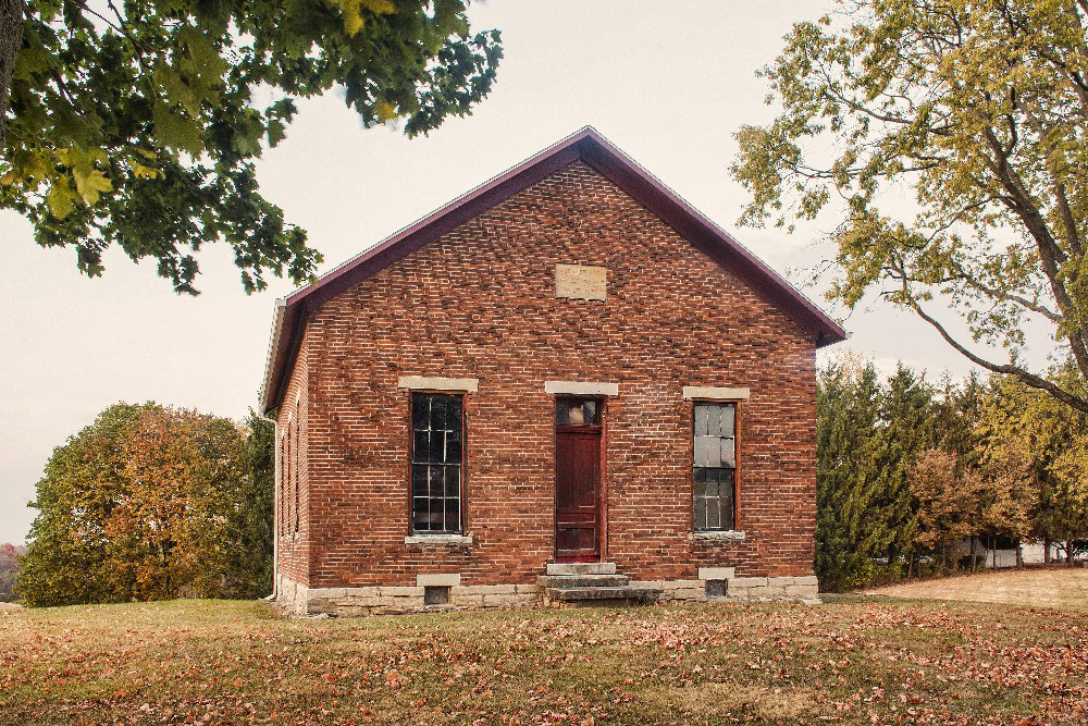 one room school house Miami County Ohioby Dan Cleary of Cleary Creative Photography in Dayton Ohio