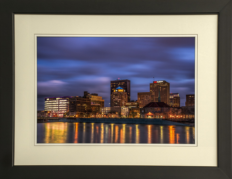 Downtown Dayton At Night in January 2017 by Dan Cleary of Cleary Creative Photography in Dayton Ohio