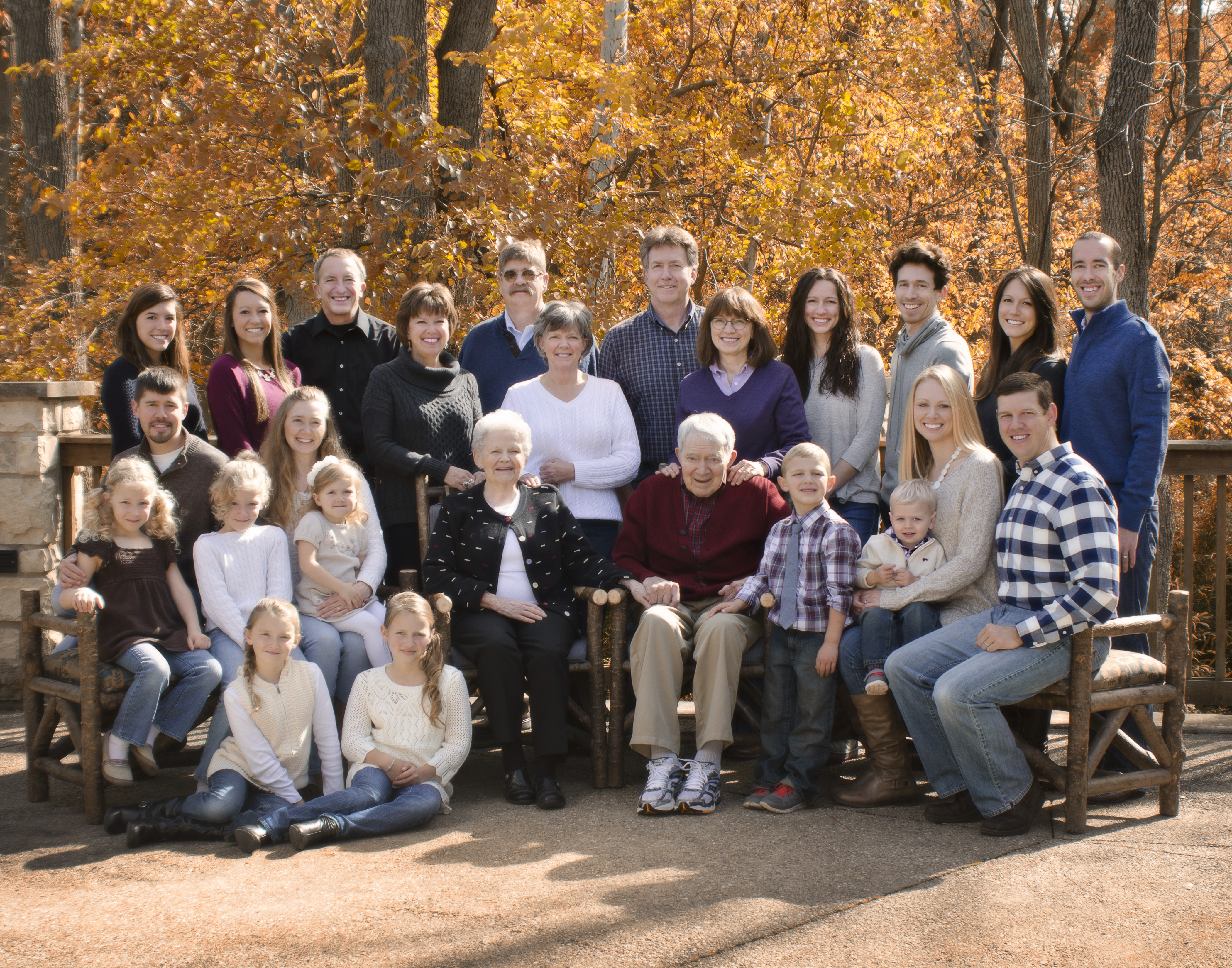 Fall Family Portrait At Aullwood Garden By Cleary Creative Photography In Dayton  Ohio
