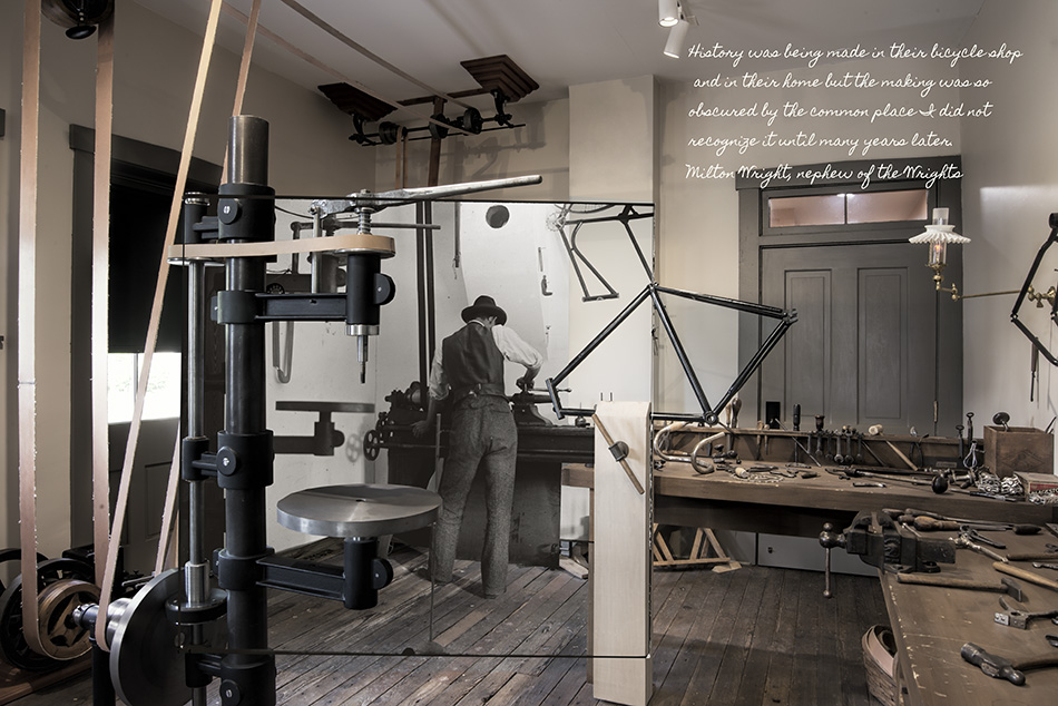 Wilbur Wright Working In Bike Shop by Dan Cleary of Cleary Creative Photography in Dayton Ohio