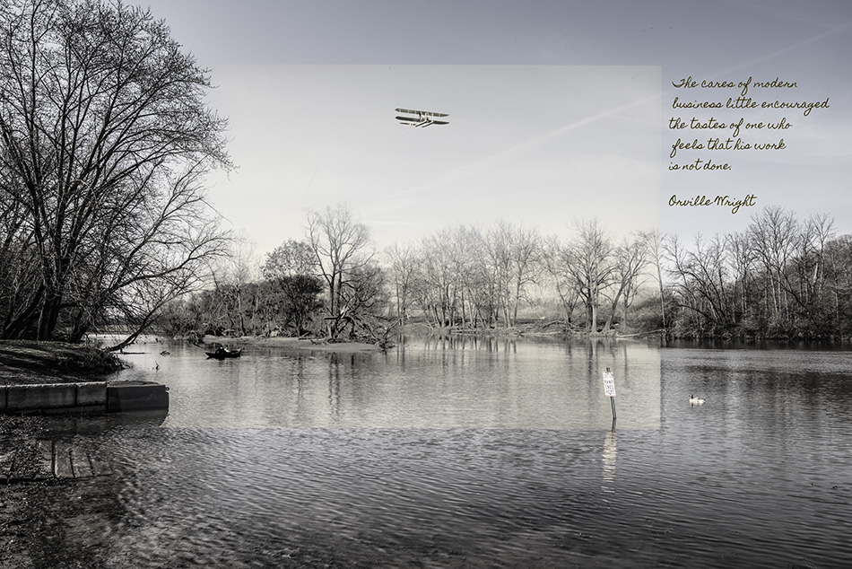 Flying On The Great Miami River by Dan Cleary of Cleary Crative Photography in Dayton Ohio