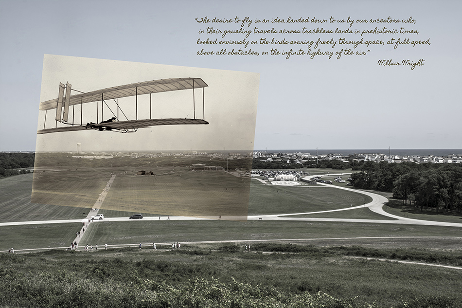 Wright Brothers Glider at Kill Devel Hill by Dan Cleary of Cleary Creative Photography in Dayton Ohio