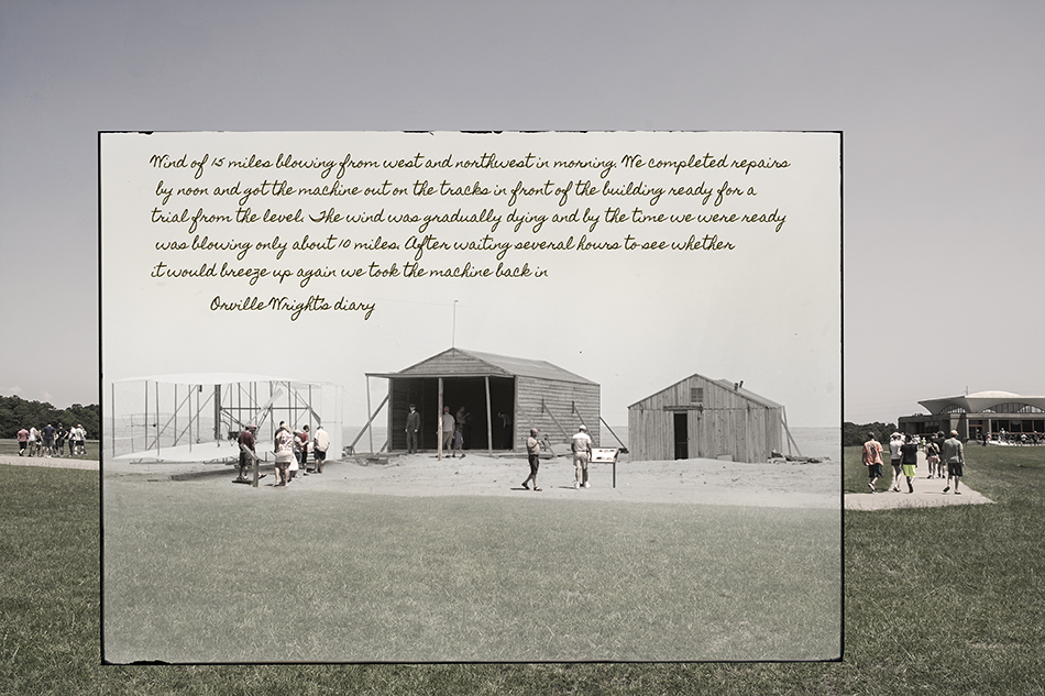 Wright Brothers photograph, Nov 24th 1903 by Dan Cleary of Cleary Creative Photography in Dayton Ohio